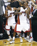 LeBron James & Dwyane Wade Celebration Photo