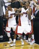 LeBron James & Dwyane Wade Celebration Photo