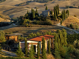 Belvedere House at Sunset, San Quirico D'Orcia, Tuscany, Italy Photographic Print by Adam Jones