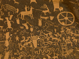 Fremont, Anasazi, Navajo and Anglo Culture Symbols, Newspaper Rock Historical Monument, Utah, Usa Photographic Print by Paul Colangelo