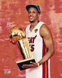 Mario Chalmers with the NBA Championship Trophy Photo