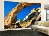 Hiker Below Natural Navajo Sandstone Hickman Bridge, Capitol Reef National Park, Utah, Usa Wall Mural – Large by Scott T. Smith