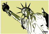 Steez Lady Liberty Art Poster Print Posters