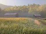 Dan Lawson Place at Sunrise, Cades Cove, Great Smoky Mountains National Park, Tennessee, Usa Photographic Print by Adam Jones