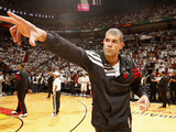 Miami, FL - June 21:  Miami Heat and Oklahoma City Thunder Game Five, Shane Battier Photographic Print by Issac Baldizon