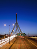 Traffic Lights on Leonard P. Zakim Bunker Hill Bridge, I-93, Boston, Massachusetts, Usa Photographic Print by Paul Souders