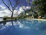The River Club Swimming Pool, Livingstone, Zambia Photographic Print by Dave Bartruff