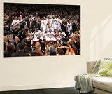 Miami, FL - June 21:  The Miami Heat team celebrates after defeating the Oklahoma City Thunder. Wall Mural by Joe Murphy