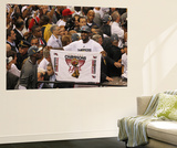 Miami, FL - June 21:  Miami Heat and Oklahoma City Thunder Game Five, LeBron James Wall Mural by Layne Murdoch