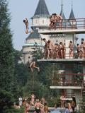 Bathers Enjoying the Mineral Water at the Bojnice Spa Photographic Print by John Eastcott & Yva Momatiuk