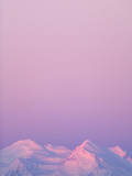 Snowy Mt.Mckinley in Colorful Alpenglow, in Autumn Twilight Photographic Print by John Eastcott & Yva Momatiuk