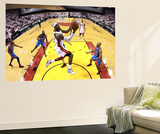 Ronald Martinez - Miami, FL - June 21:  Miami Heat and Oklahoma City Thunder Game Five, LeBron James and Derek Fisher - Poster