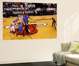 Miami, FL - June 21:  Miami Heat and Oklahoma City Thunder Game Five, Chris Bosh and Serge Ibaka Wall Mural by Mike Ehrmann
