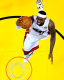 Miami, FL - June 21:  Miami Heat and Oklahoma City Thunder Game Five, LeBron James Photographic Print