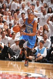 Miami, FL - June 21:  Miami Heat and Oklahoma City Thunder Game Five, Kevin Durant Photographic Print by Andrew Bernstein