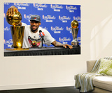 Miami, FL - June 21:  Miami Heat and Oklahoma City Thunder Game Five, LeBron James Wall Mural