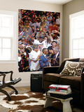 Miami, FL - June 21:  Miami Heat and Oklahoma City Thunder Game Five, LeBron James Wall Mural by Mike Ehrmann
