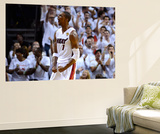Miami, FL - June 21:  Miami Heat and Oklahoma City Thunder Game Five, Chris Bosh Wall Mural by Ronald Martinez