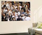 Miami, FL - June 21:  Miami Heat and Oklahoma City Thunder Game Five, LeBron James Wall Mural by Layne Murdoch