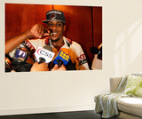 Miami, FL - June 21:  Miami Heat and Oklahoma City Thunder Game Five, Mario Chalmers Wall Mural by Mike Ehrmann