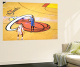 Miami, FL - June 21:  Miami Heat and Oklahoma City Thunder Game Five, Kevin Durant and LeBron James Art by Noah Graham