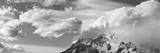 Rugged and Misty Cuernos Del Paine Peaks in Morning Light with Clouds Fotografisk trykk av John Eastcott & Yva Momatiuk