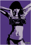 Steez Bikini Boombox Art Print Poster Poster