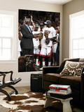 Miami, FL - June 21:  Former NBA Hall of Famer Bill Russell presents the Bill Russell NBA Finals MV Print by Joe Murphy