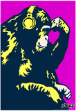 Steez Monkey Thinker - Purple Art Poster Print Posters