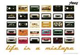 Steez Life Is A Mixtape - Orange Art Print Poster Plakaty