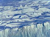 Massive Glacier Moving to Sea, Full of Crevasses, Ridges and Fissures Photographic Print by John Eastcott & Yva Momatiuk