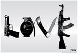Love (Weapons) Black & White Steez Poster Kunstdrucke von  Steez