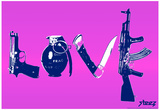 Love (Weapons) Purple Steez Poster Posters by  Steez