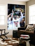Miami, FL - June 21:  Miami Heat and Oklahoma City Thunder Game Five, Dwyane Wade Wall Mural by Ronald Martinez