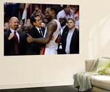 Miami, FL - June 21:  Miami Heat and Oklahoma City Thunder Game Five, LeBron James Wall Mural by Ronald Martinez