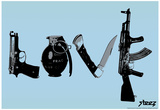 Love (Weapons) Light Blue Steez Poster Prints by  Steez