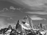 Spectacular Peaks of Fitzroy Massif with Snow, Glaciers and Clouds Photographic Print by John Eastcott &amp; Yva Momatiuk