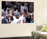 Miami, FL - June 21:  Miami Heat and Oklahoma City Thunder Game Five, LeBron James Poster by Mike Ehrmann