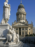 The Gendarmenmarkt Is a Square in Berlin, and the Site of the Konzerthaus and the French and German Photographic Print by David Bank