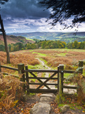 Alan Copson - UK, England, Derbyshire, Peak District National Park, from Stanage Edge Fotografická reprodukce