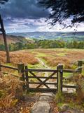 UK, England, Derbyshire, Peak District National Park, from Stanage Edge Fotoprint van Alan Copson