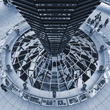 The Light Funnel of the Reichstag Dome in the Cupola of the Reichstag, Tiergarten, Berlin,Germany Photographic Print by Cahir Davitt