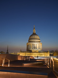 England, London, City of London, St Paul&#39;s Cathedral from One New Change Shopping Center Rooftop Photographic Print by Jane Sweeney