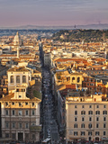 Via Del Corso Ta Sunset, Rome, Lazio, Italy, Europe Photographic Print by Francesco Iacobelli