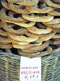 Koulouria (Greek Sesame Bread Rings), Syntagma District, Athens, Greece Photographic Print by Doug Pearson