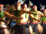 Polynesian Dancers, Rarotonga, Cook Islands, South Pacific Photographic Print by Doug Pearson