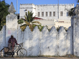 Zanzibari Man and His Bicycle, Stone Town, Zanzibar, Tanzania Photographic Print by Steve Outram
