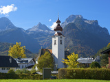 Church of Lofer in Pinzgau, Salzburger Land, Austria Photographic Print by Katja Kreder