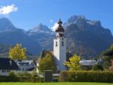 Church of Lofer in Pinzgau, Salzburger Land, Austria Photographic Print by Katja Kreder