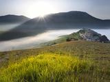 Italy, Umbria, Perugia District, Monti Sibillini Np, Norcia, Castelluccio Photographic Print by Francesco Iacobelli
